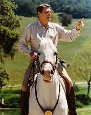 Ronald Reagan On Horseback